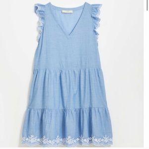 Loft embroidered flutter dress